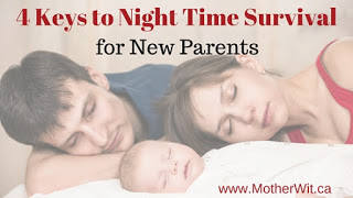 4 Keys to Night Time Survival for New Parents